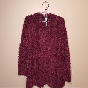 Kensie fuzzy chunky cardigan sweater size small